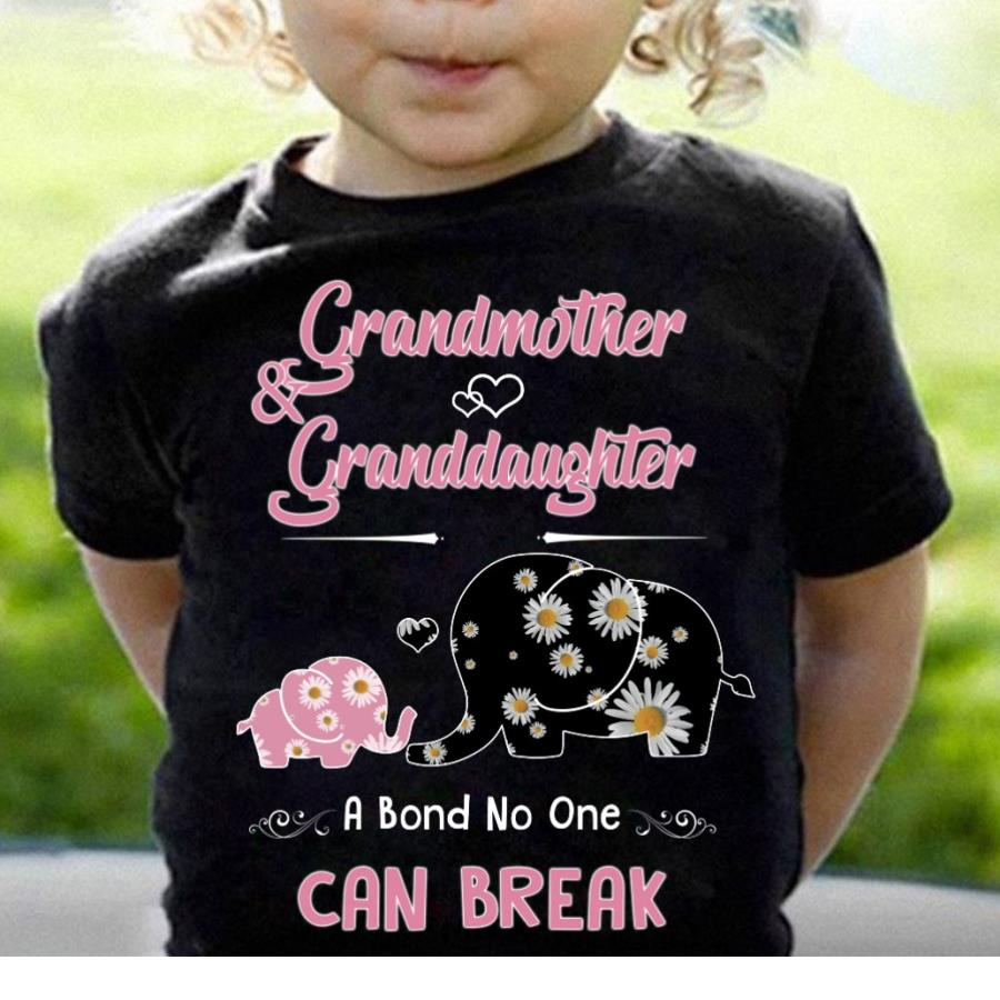 Elephant grandmother and granddaughter a bond no one can breal s unisex, hoodie, sweatshirt
