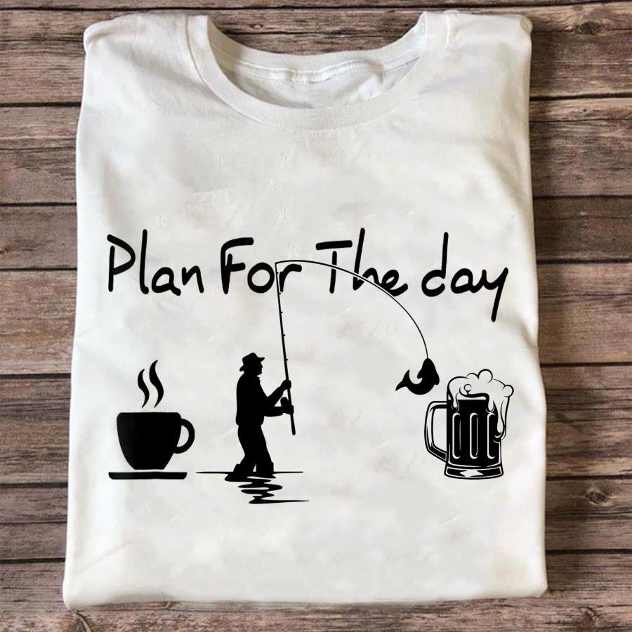 Plan for the day coffee fishing and bear s unisex, hoodie, sweatshirt