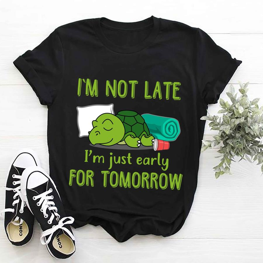 Turtle I'm not late just early for tomorrow s unisex, hoodie, sweatshirt