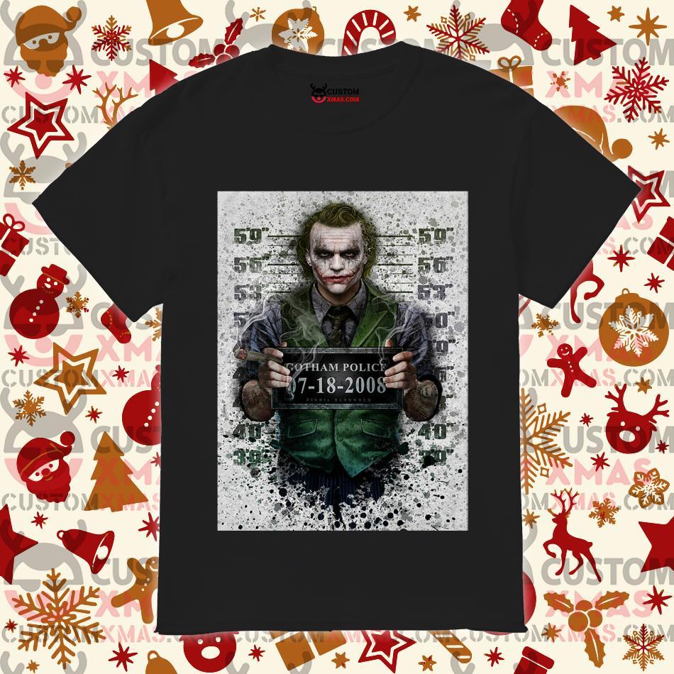 Joker Gotham Police 07 18 2008 shirt
