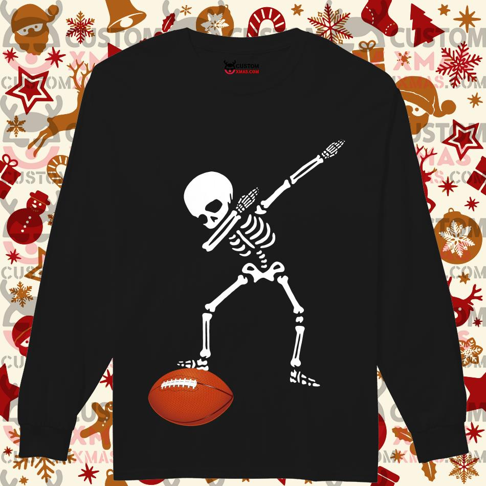 Skeleton dabbing American football Longsleeved