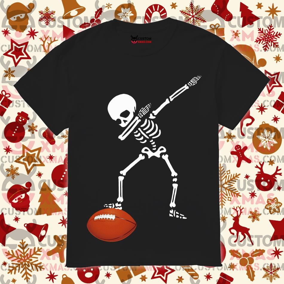 Skeleton dabbing American football shirt