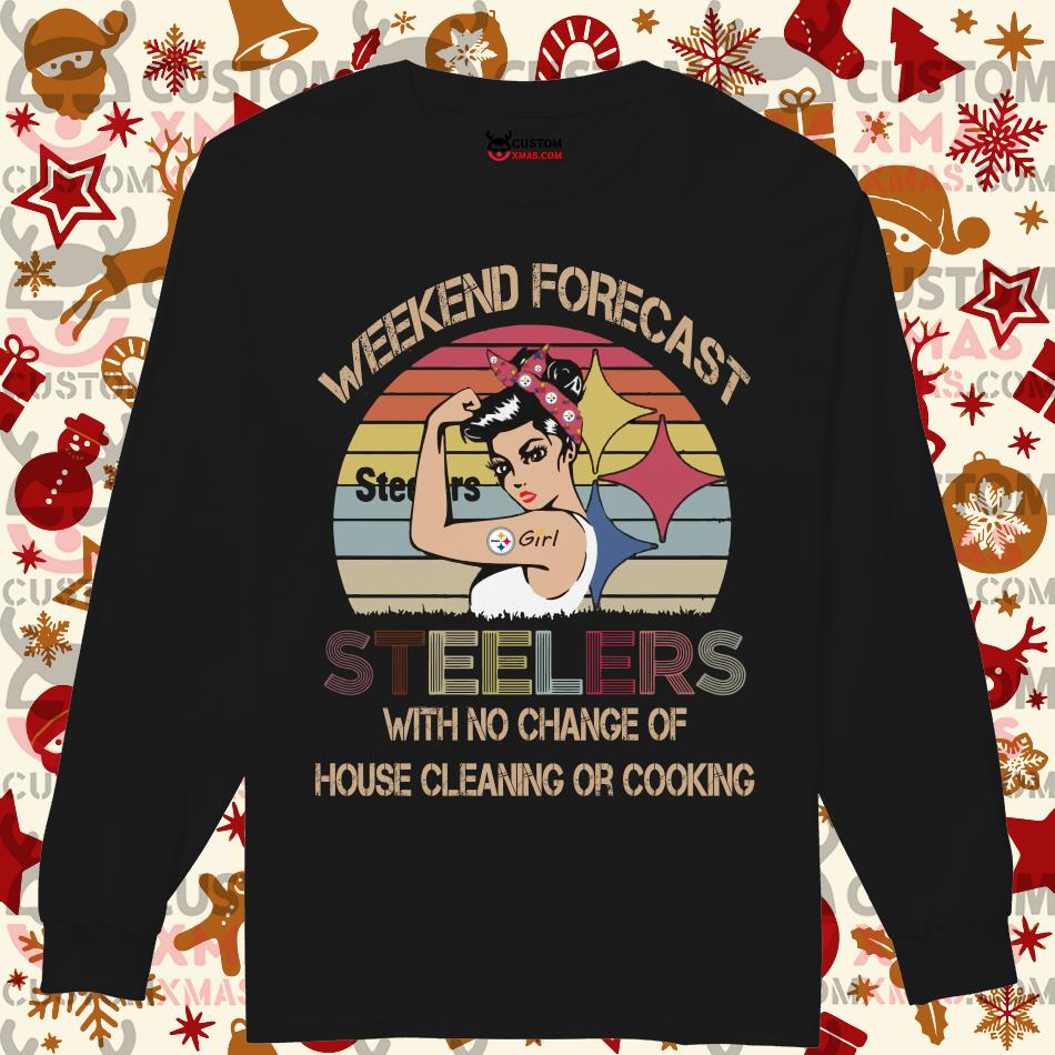 Weekend forecast Steelers with no chance of house cleaning or cooking Longsleeved