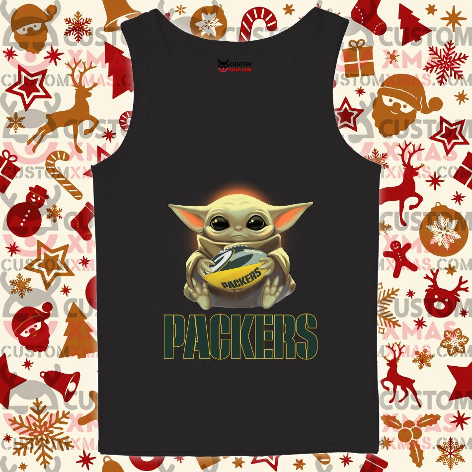 Baby Yoda Hug Green Bay Packer Shirt Customxmas