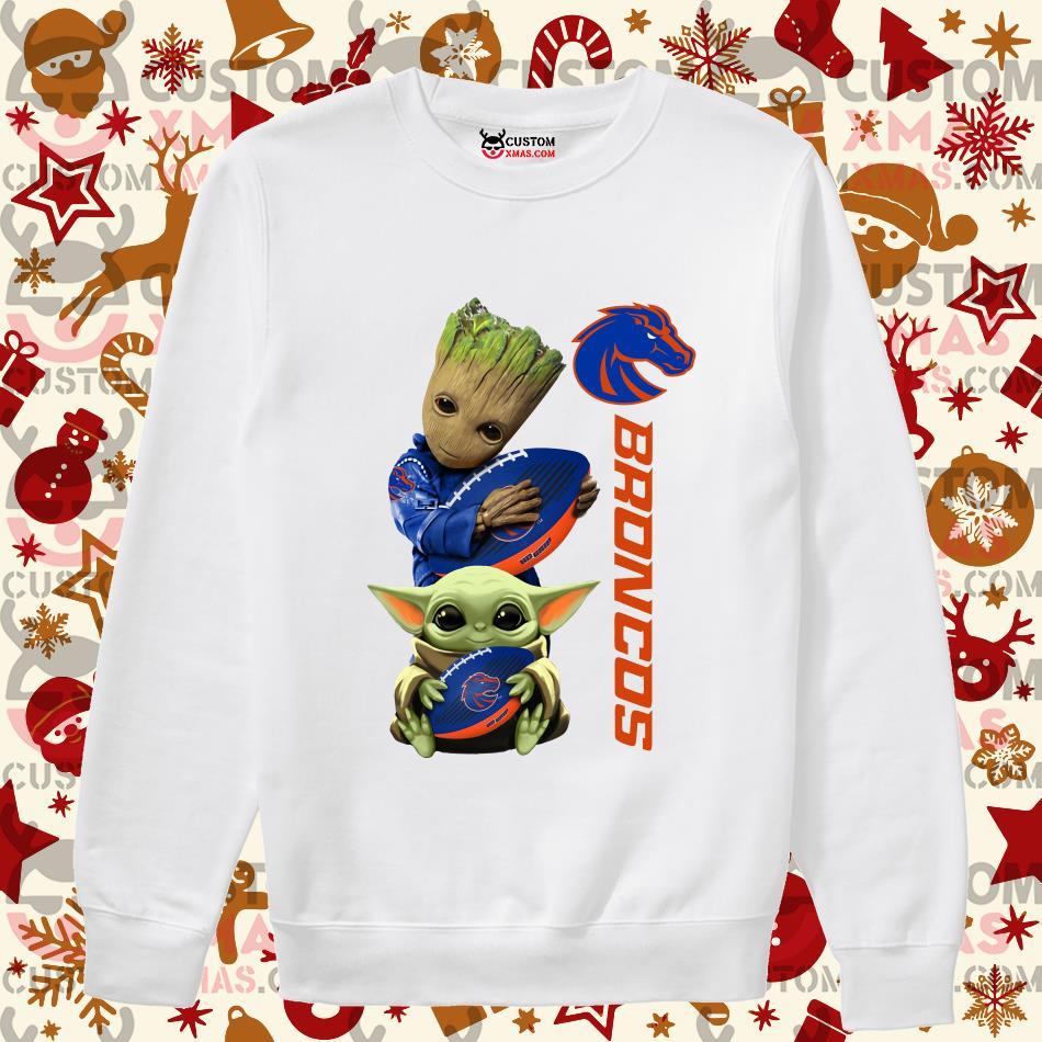 Fast Shipping Baby Groot And Yoda Hug Broncos Shirt