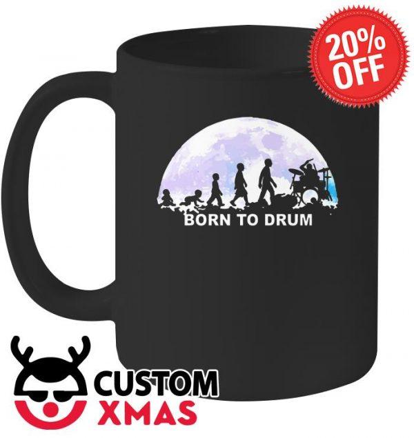 Born to drum moon mug