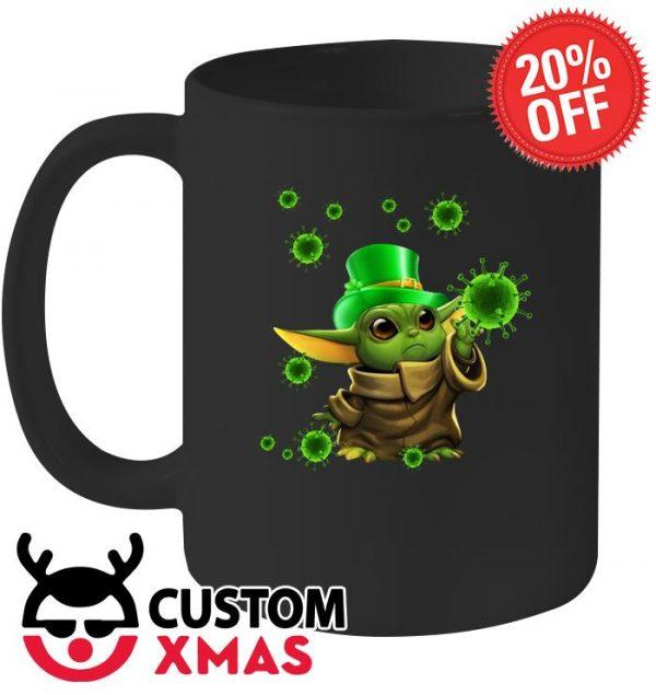 Baby Yoda Coronavirus St Patrick's Day mug