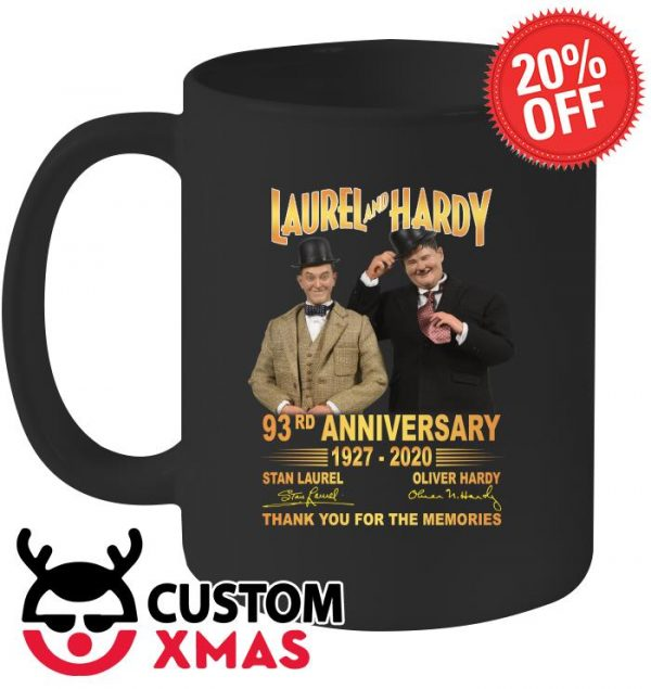 Laurel and Hardy 93rd anniversary 1927 2020 mug