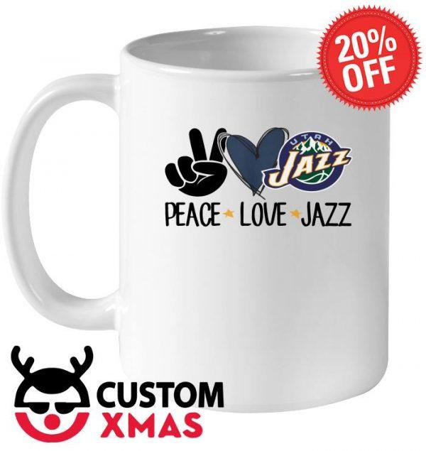Peace Love UTAH Jazz mug