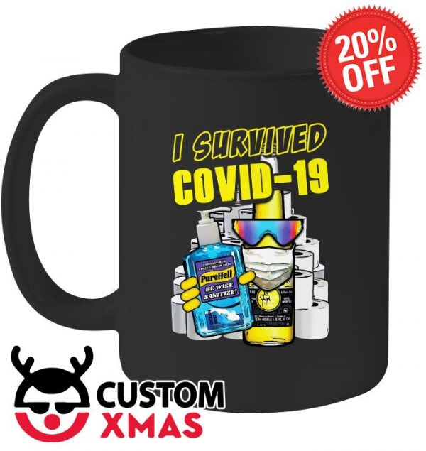 Pure Hell I survived Covid-19 mug