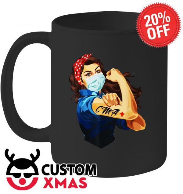 Strong Woman Mask CMA Coronavirus mug