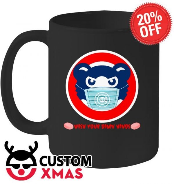 Wash your damn hands Chicago Cubs mug