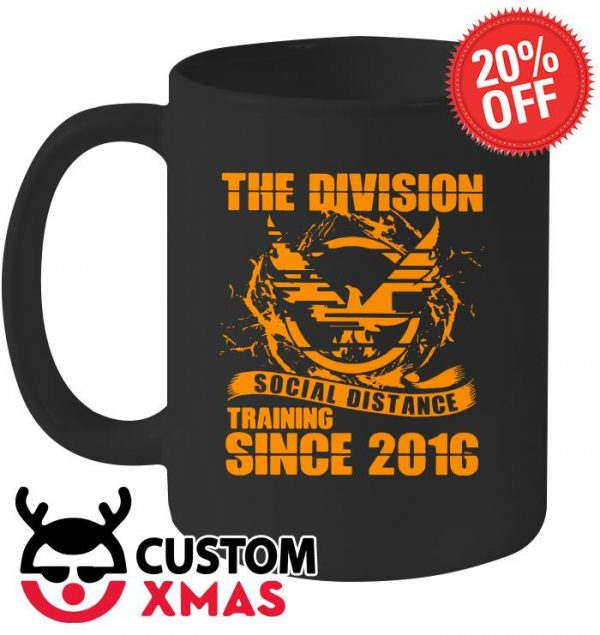 The division social distance training since 2016 mug
