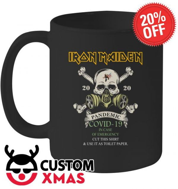 Iron Maiden 2020 Pandemic Covid-19 in case of emergency mug