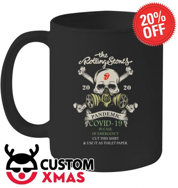 The Rolling Stones 2020 Pandemic Covid-19 in case of emergency mug