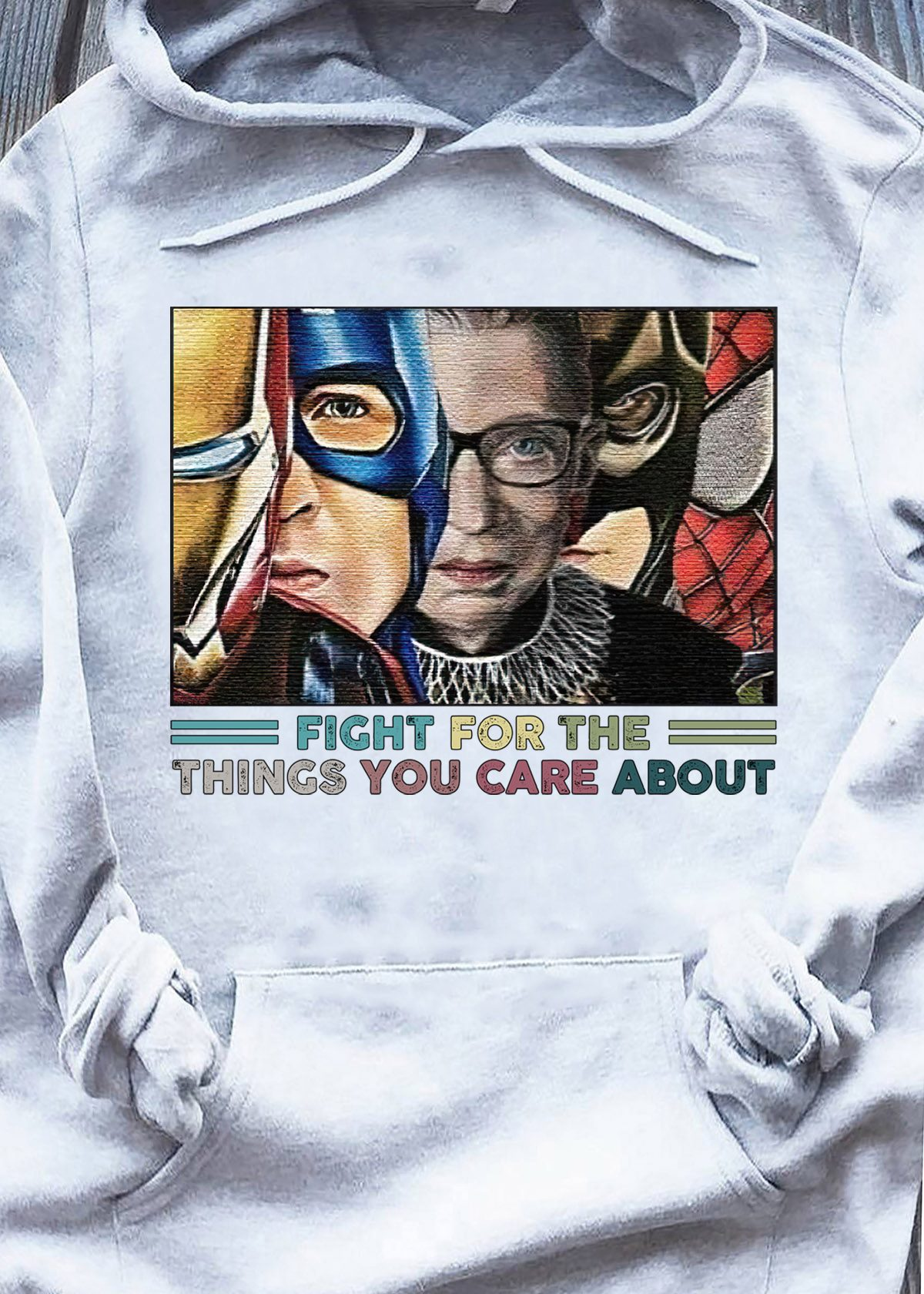 RBG Fight for the things you care about Super Hero Ruth Bader Ginsburg shirt