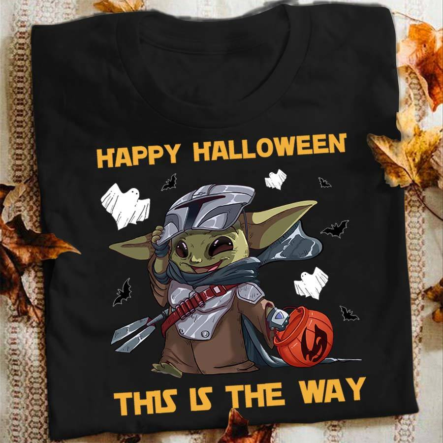 Baby Yoda Happy Halloween This Is The Way Shirt Customxmas